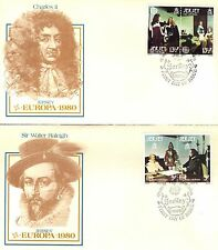 GREAT BRITAIN - JERSEY FIRST DAY COVER 1980 EUROPA ON 2 COVERS