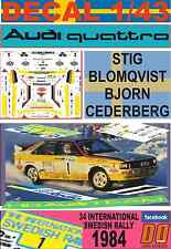 DECAL 1/43 AUDI QUATTRO A2 STIG BLOMQVIST SWEDISH R. 1984 WINNER (03)