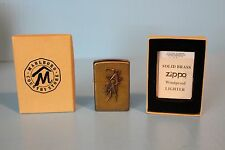 VINTAGE COLLECTIBLE ZIPPO LIGHTER ADVERTISING MARLBORO BRASS COWBOY HORSE RARE
