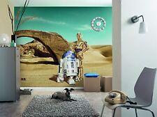 Mural de Pared Foto Wallpaper Star Wars perdido Droids robots Niños Decoración De Habitación 368x254
