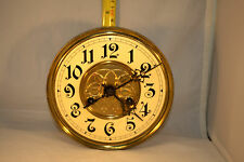 F. Mauthe & Son Antique Wall Clock Movement, Dial & Hands, RUNS!