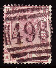 Great Britain 1876 SG 141 QV 2 1/2 D Rosy Mauve good used Plate 12 A-H [sq3745]