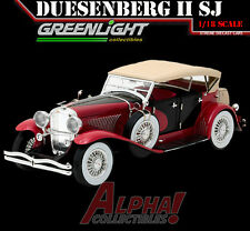 PRESALE GREENLIGHT 12995 1:18 DUESENBERG II SJ RED & BLACK
