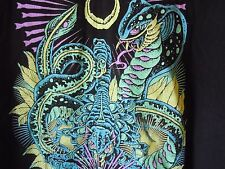 As I Lay Dying King Cobra Scorpion Psychedelic Black T Shirt Rare Vintage Metal