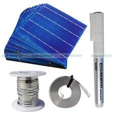 40PCS 6x6 in 156x156mm Solar Cell Cells 130' Tab Wire 16' Bus Wire 1pc Flux Pen