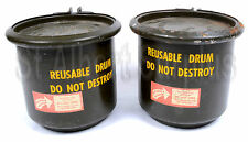 4 x ARMY STORAGE CANS - AMMO - SILVER & GOLD - SEEDS - PREPPERS - 42k