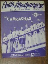 PARTITION MUSICALE BELGE LES CHAKACHAS ANITA DE MONTPAR