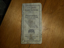 Vintage 1950 Indianapolis Paint & Color Company List Price Book Mirrors
