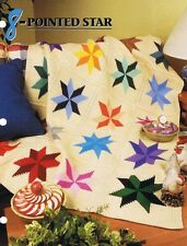 8 Pointed Star  Annie's Attic Crochet Afghan Pattern Instruction Leaflet