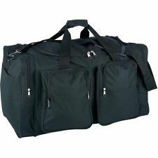 "Black 26"" Carry-On Duffle Bag, Waterproof Overnight Travel Tote Suitcase Luggage"