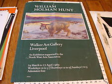 Vintage Art Poster: WILLIAM HOLMAN HUNT walker art gallery liverpool