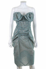 Vivienne Westwood Bespoke Structured Bustier Dress / Turquoise / RRP £2,000.00 +