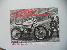 advertising Pubblicità 1971 MOTO APRILIA SCARABEO 50 CROSS
