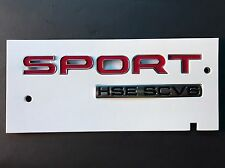 NEW OEM 2016 GENUINE RANGE ROVER SPORT HSE SCV6 BADGE REAR BOOT TAILGATE- RED