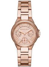 NEW Michael Kors MK6447 Women's Mini Camille Rose Gold Stainless Steel Watch