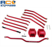 Hot Racing Axial Wraith Red Aluminum 4 Link Suspension w/ Diff Covers WRA8000E02