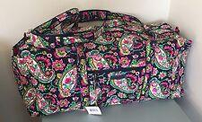 NWT Vera Bradley XL Extra Large Duffel Bag PETAL PAISLEY Travel  Luggage $108