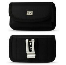 RUGGED POUCH w/ METAL BELT CLIP & VELCRO FLAP for SAMSUNG CONVOY 2, ENTRO