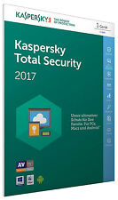 Kaspersky Total Security 2017 1 PC / Gerät 1Jahr Vollversion Key ESD Download