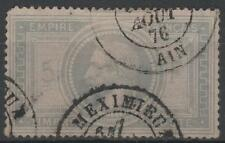 "FRANCE STAMP TIMBRE N° 33 "" NAPOLEON III 5F VIOLET GRIS"" OBLITERE MEXIMIEU  K541"