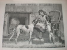 The New Love C T Garland 1883 old print girl with her dogs