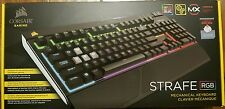 Corsair STRAFE RGB Mechanical Keyboard, Backlit Multicolor LED, Cherry MX, Red