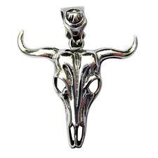 Sterling Silver  (925)   Bulls  Skull  Pendant   ( 7 Grams )   !!       New !!