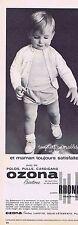 PUBLICITE ADVERTISING 015 1965 OZONA vêtement pour bébé