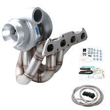 T3 Turbo Charger Kit Turbo Manifold Integra B16 B18 B20 T3 Top Mount GT35 .82AR