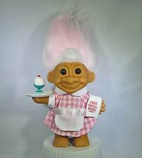 "RUSS 5"" WAITRESS TROLL - LIGHT PINK HAIR - NEW - MINT IN ORIGINAL WRAPPER BAG"