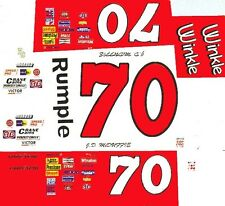 #70 J.D. McDuffy Winkle Pontiac 1/64th HO Scale Slot Car Waterslide Decals