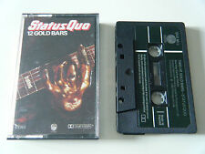 STATUS QUO 12 GOLD BARS CASSETTE TAPE 1980 GREEN PAPER LABEL VERTIGO