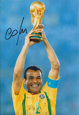 CAFU SIGNED Autograph 12x8 Photo AFTAL COA BRAZIL World Cup Captain Authentic