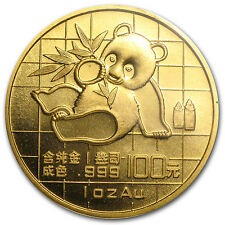 1989 China 1 oz Gold Panda Small Date BU (Sealed) - SKU #8964