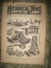 ANTIQUE 1883 SAW MILL SAWMILL MACHINERY FARMING EQUIPMENT PRINT TOOL EQUIPMENT