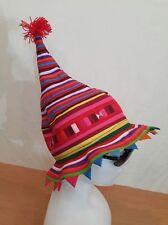 PATCHWORK HAT Elf HIPPIE christmas BUCKET festival wizard ETHNIC santa BEANIE