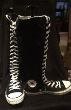 Black And White Converse boots knee high lace up. Size 7.