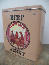 New Vintage-Style Food Safe Sunrise Canyon Horse Trails Beef Jerky Canister Tin