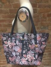 Authentic Brahmin All Day Large Floral Leather Tote Black Bohemia Excellent