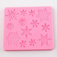 2015 Snowflake Silicone Mould Cake Cookies Decorating Mat Chocolate Baking Mold