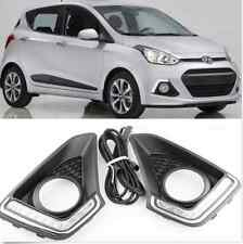 2x LED Daytime Running Fog Lights Lamp DRL For Hyundai Grand I10 Xcent 2014-2015