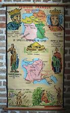 toile peinte éducative d'école charlemagne - déco loft