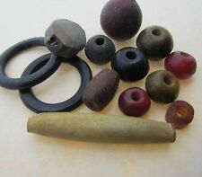 25 Horn & Bone Beads Assorted Sizes and Dyed Colors - Beautiful Unique Beads