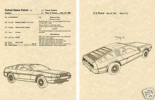 US PATENT for DELOREAN DMC 12 Art Print READY TO FRAME!!!! John Deoreon Car