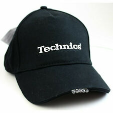 Technics Headwear LED Light Baseball Cap (Black / Schwarz) H02 One Size! NEU!