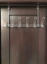 Home Basics 6 Hook over the Door Coat Rack Small Space Bathroom Storage #Shelf