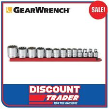 """GearWrench 13 Piece 3/8"""" Drive 12 Point SAE Standard Socket Set - 80561"""