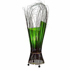 Lime Green Twisted Floor or Table Lamp Fair Trade Bali
