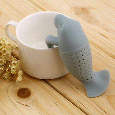 Gray Silicone Manatee Infuser Loose Tea Strainer Herbal Spice Filter Diffuser
