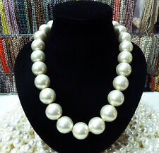 20mm AAA+ White south sea shell pearl necklace 18""